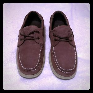 SPERRY Top Siders Intrepid brown shoe boys youth 4